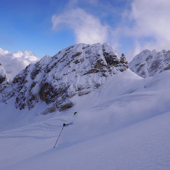 Off-piste Skiing on Marmolada Glacier