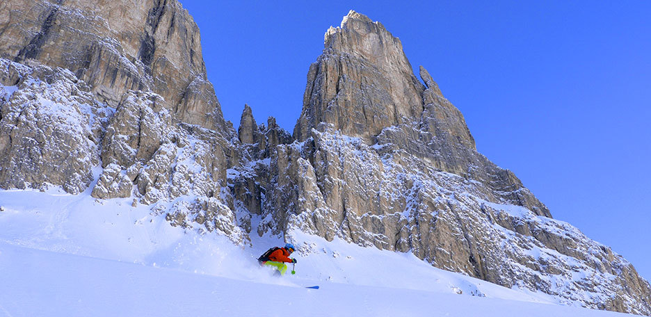 Off-piste Skiing in the Sella Group