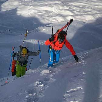 Backcountry Skiing in Val Ferret, Ski Mountaineering to Mont Grapillon
