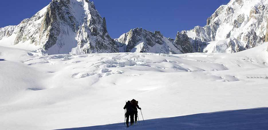 Mont Blanc Ski Mountaineering from Cosmiques Hut
