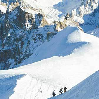 Mont Blanc Ski Touring from Grand Mulets Hut