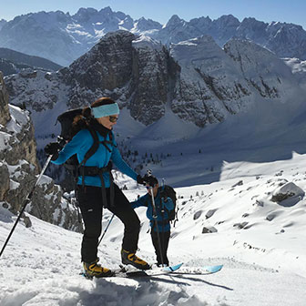 Ski Mountaineering to Forcella delle Bance at Popena Mountain