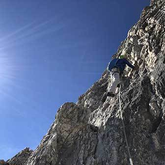 Cassin Climbing Route to the Piccolissima di Lavaredo