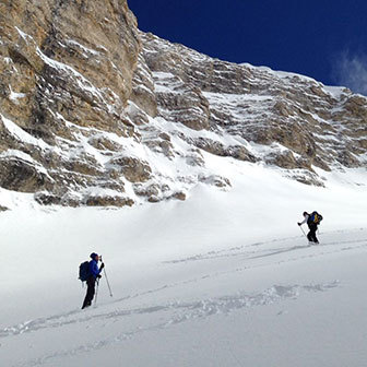 Ski Mountaineering to Sass Ciampac in the Puez-Odle Nature Park