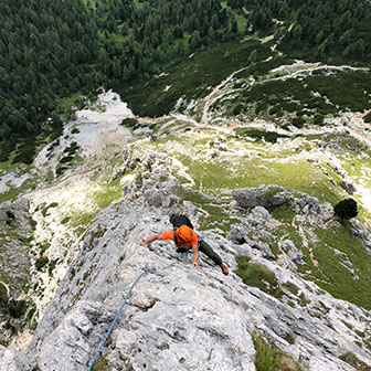 Climbing Route on Falzarego, Via Comici