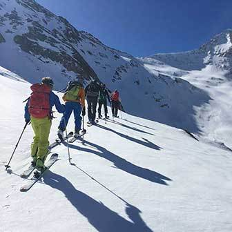 Ski Mountaineering to Mount V Corno in Valle Aurina & Tures