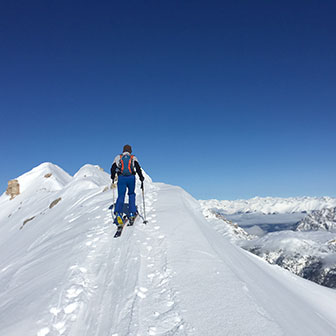 Ski Mountaineering to Costabella Ridge at Mount Cristallo