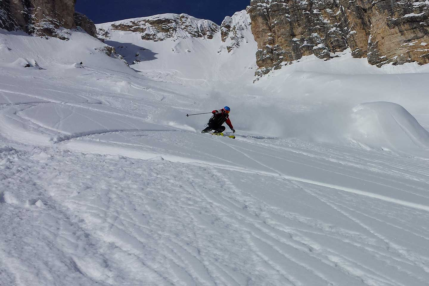 Ski Mountaineering at the Cristallo Mountain