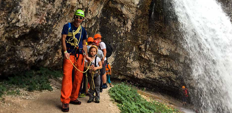 Via Ferrata Barbara to Fanes Waterfalls