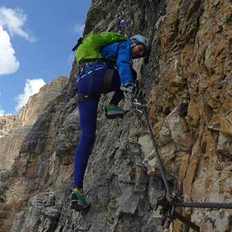 Via Ferrata Vallon to the Sella Massif