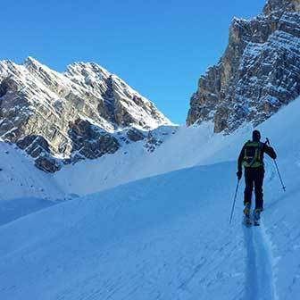Ski Mountaineering to the Forca Rossa at Monte Pelmo