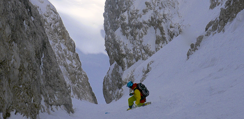 Steep Skiing in the Cortina Couloirs