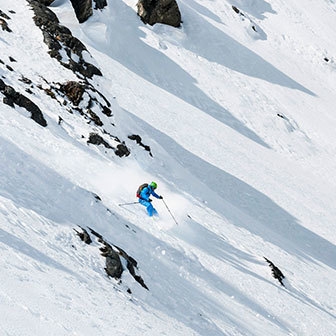 Arp Vieille Off-piste Skiing, Freeride to Vesses Couloirs