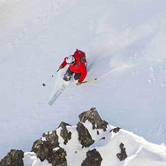 Freeriding and Steep Skiing in Alagna, Jschechette Couloir