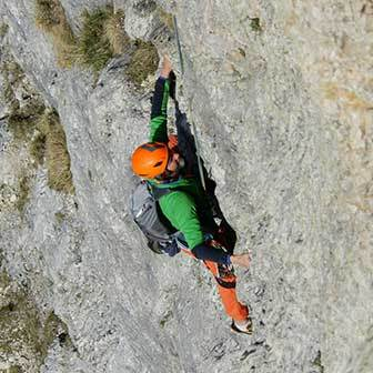 Irma Climbing Route to Piz Ciavazes in the Sella Group