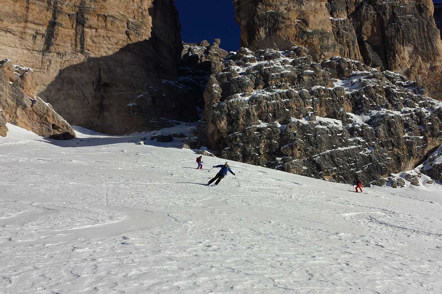 Ski Mountaineering at Lagazuoi to the Three Forcelle