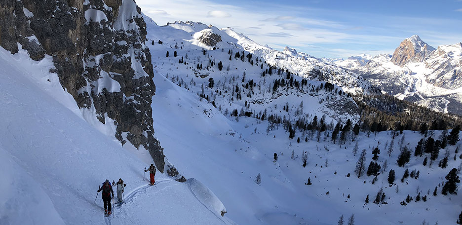 Ski Mountaineering to Forcella Marcoira in the Sorapiss Group
