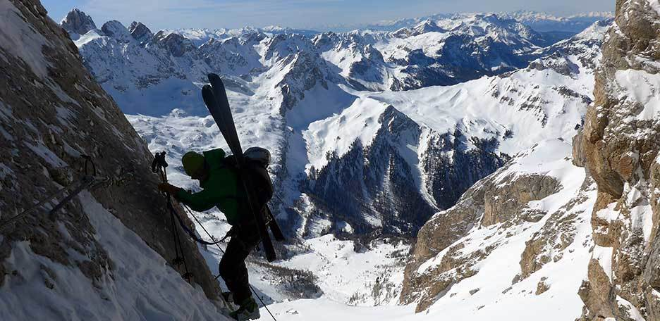 Ski Mountaineering to Forcella Marmolada