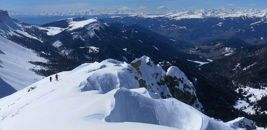 Ski Mountaineering to Munt da Medalges in the Puez-Odle
