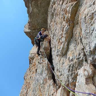 Miriam Climbing Route on the Torre Grande at Cinque Torri