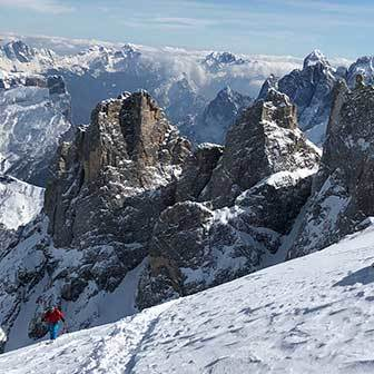 Ski Mountaineering to Mount Mulaz in the Pale di San Martino