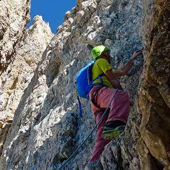 Normal Climbing Route to the Cima Grande di Lavaredo