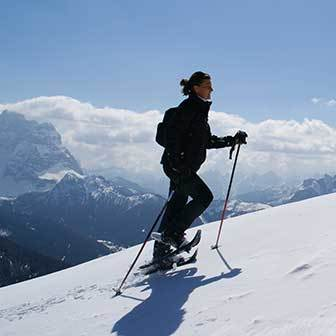 Excursion on Snowshoes to Monte Pore