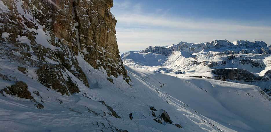 Ski Mountaineering to Piz Duleda in the Puez-Odle