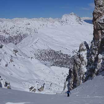 Ski Mountaineering to Cima Puez in the Puez-Odle
