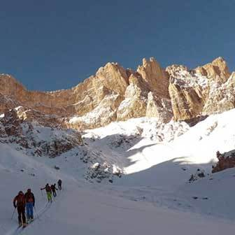 Ski Mountaineering to Forcella della Roa in the Puez-Odle