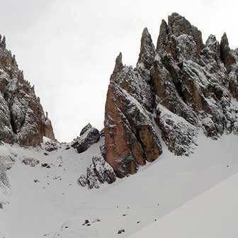 Ski Mountaineering to Forcella Sassolungo