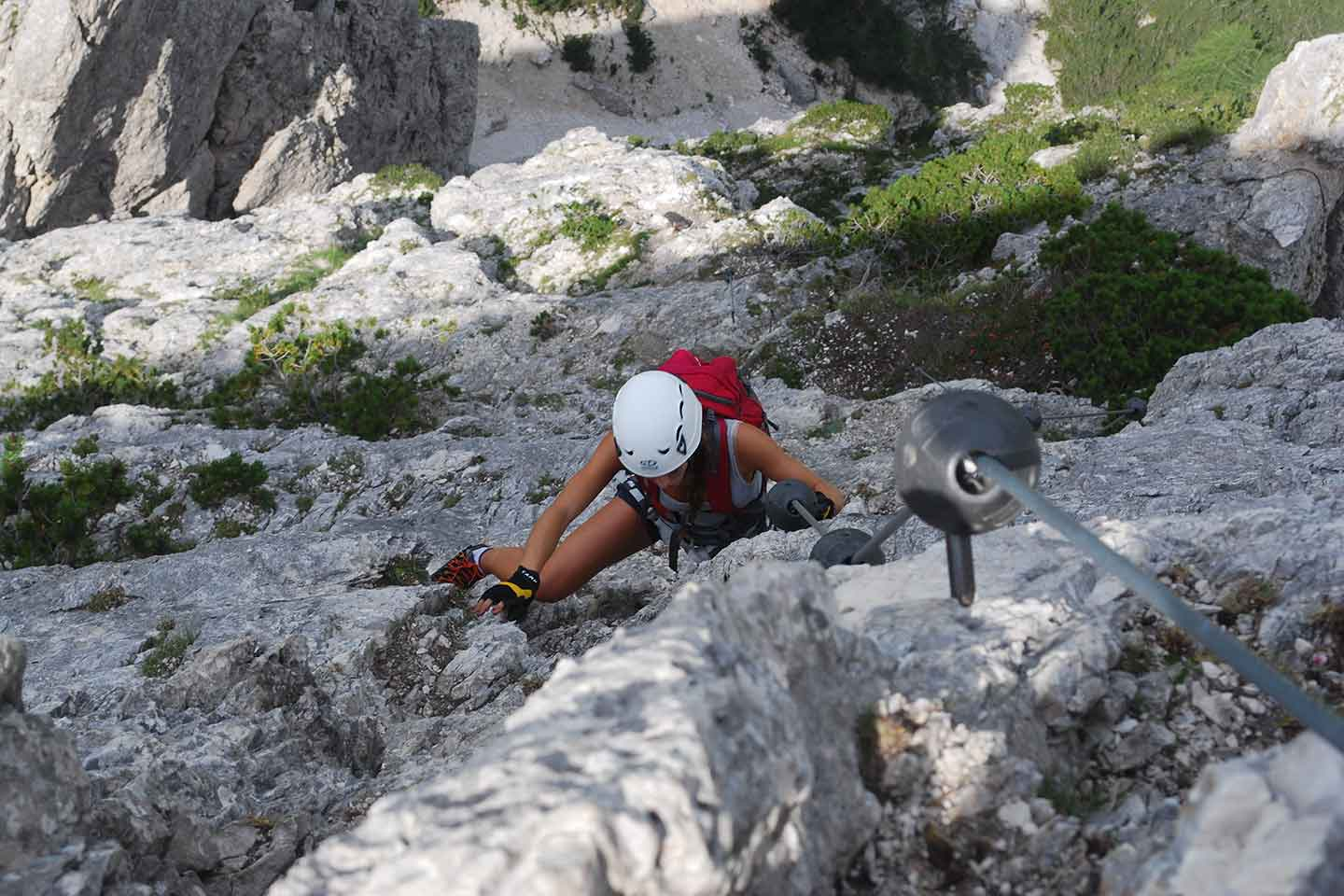 Via Ferrata Sci Club 18 to Faloria Mountain