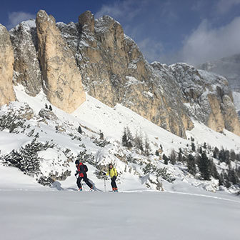 Ski Mountaineering to Forcella Settsass at Piccolo Settsass