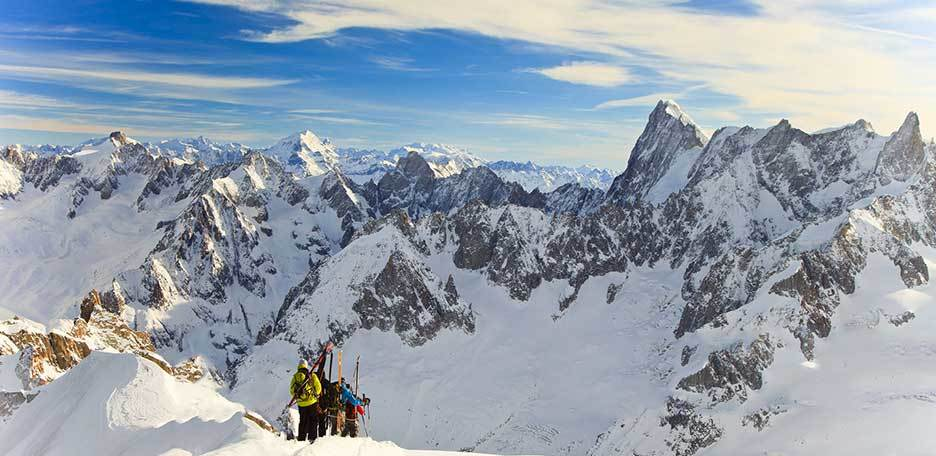 Ski Mountaineering to Aiguille du Midi, Ski Touring in Mont Blanc