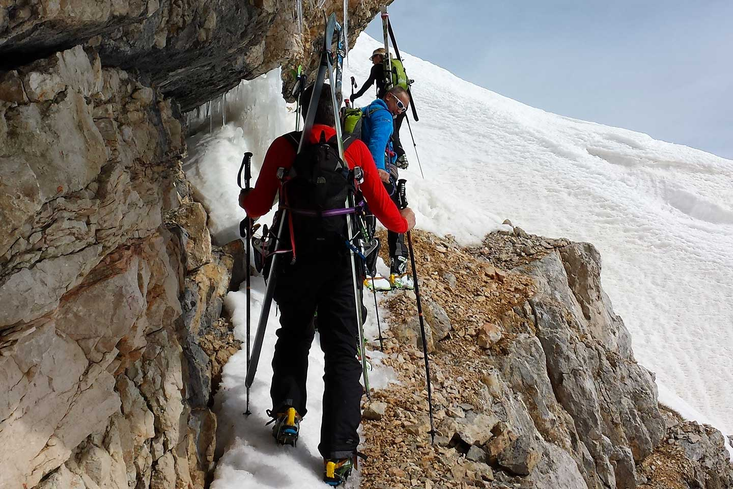 Ski Mountaineering to Tofana Terza and Vallon de Raola