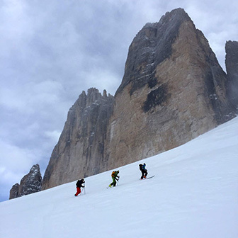 Complete Ski Mountaineering Tour of the Tre Cime di Lavaredo