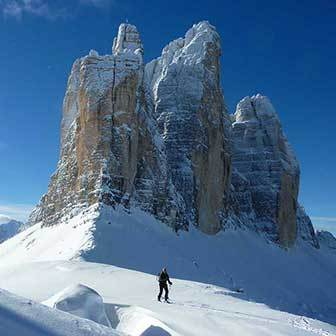 Excursion on Snowshoes to Tre Cime di Lavaredo