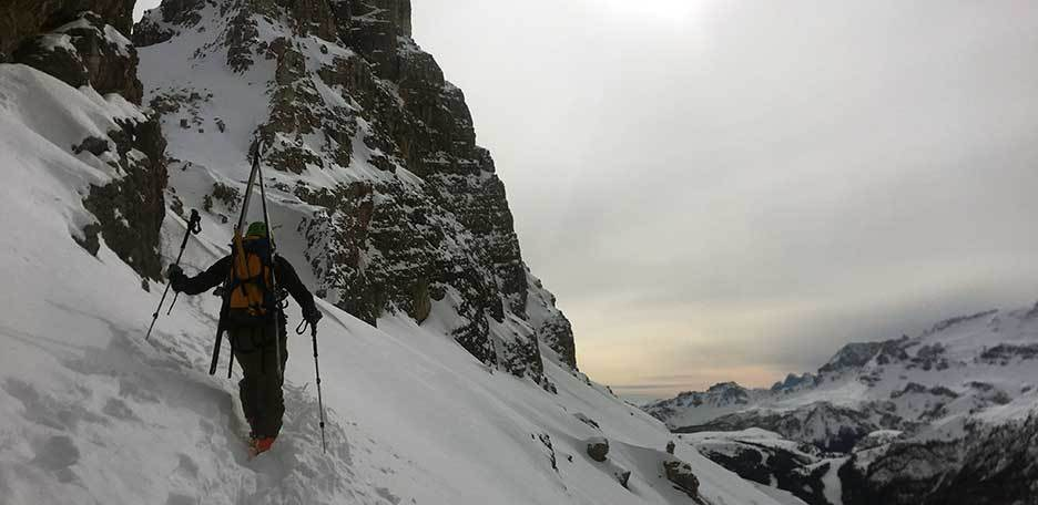 Ski Mountaineering to Val Scura at Sassongher