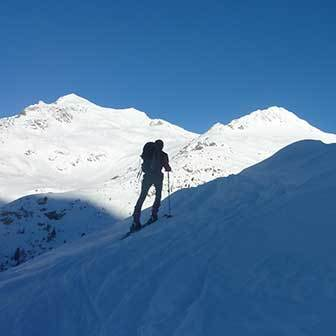 Ski Mountaineering to Mount Cima del Vento in Valle Aurina & Tures