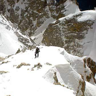 Ski Mountaineering to Cima Vezzana in the Pale di San Martino