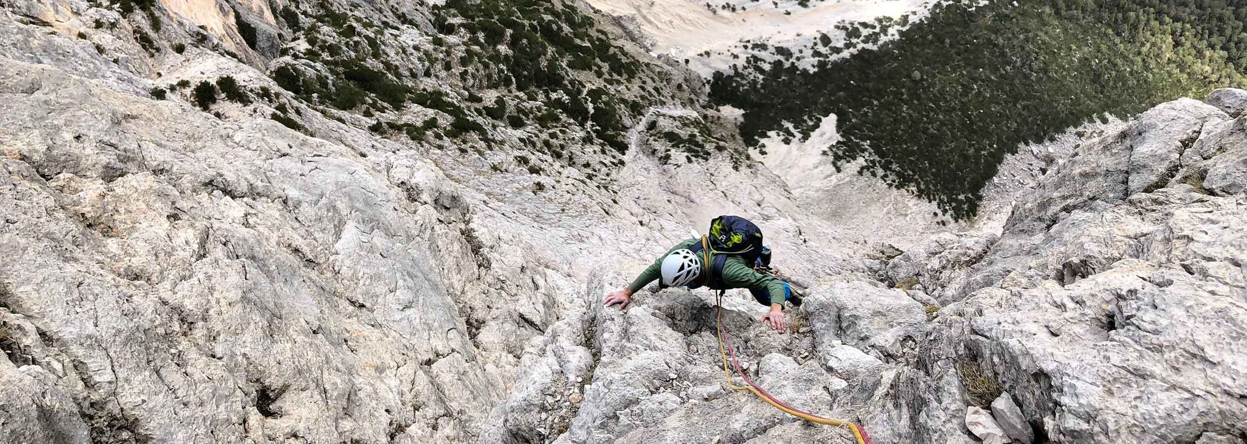 Climbing with a Mountain Guide in Alleghe