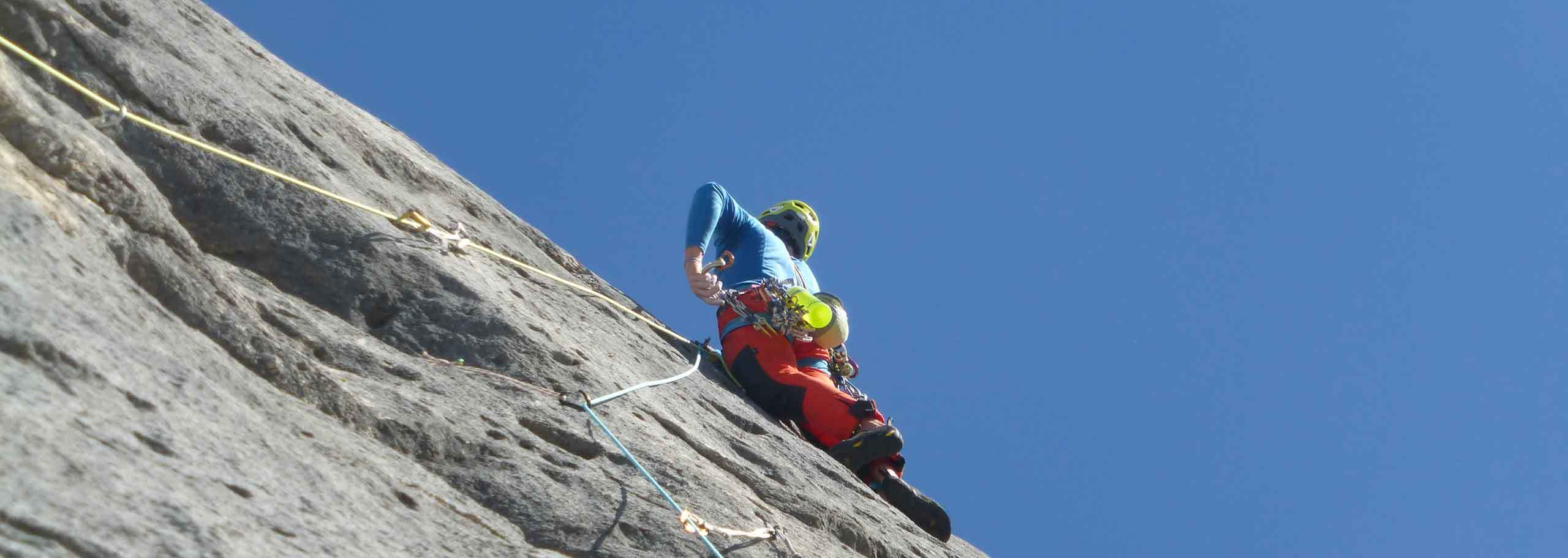 Rock Climbing in Cervinia, Matterhorn with a Mountain Guide