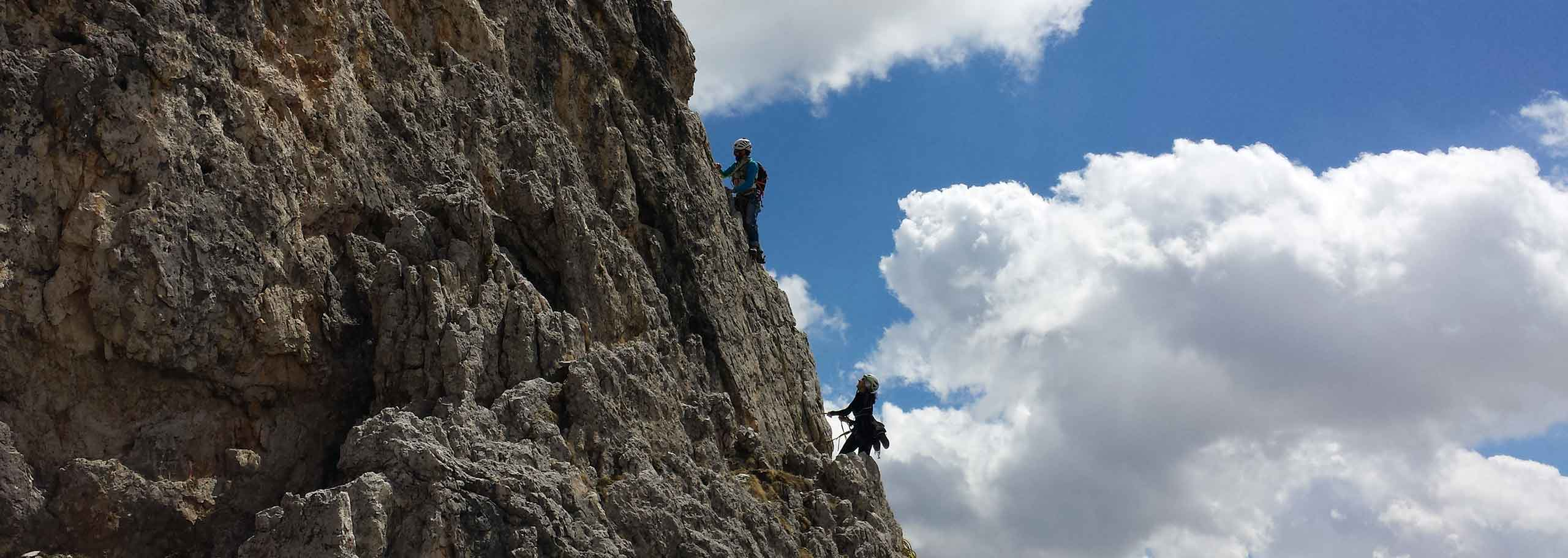 Climbing with a Mountain Guide in Val Gardena