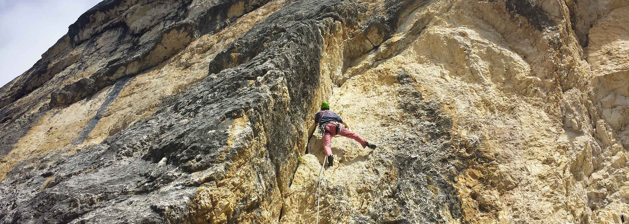 Climbing with a Mountain Guide in Val di Fassa