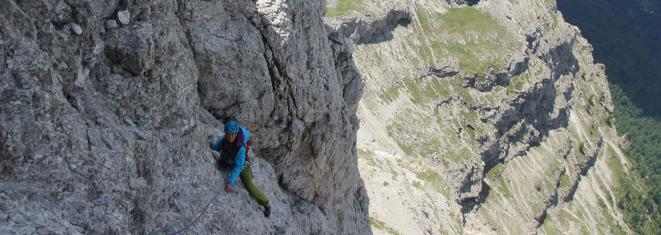Rock Climbing with a Mountain Guide in San Martino di Castrozza