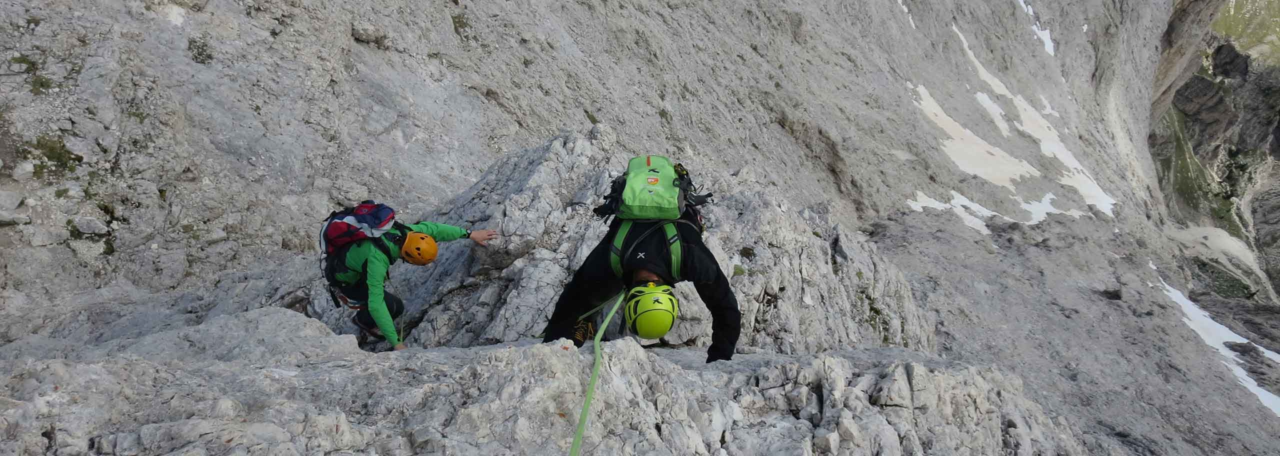 Climbing with a Mountain Guide in the Alpe di Siusi
