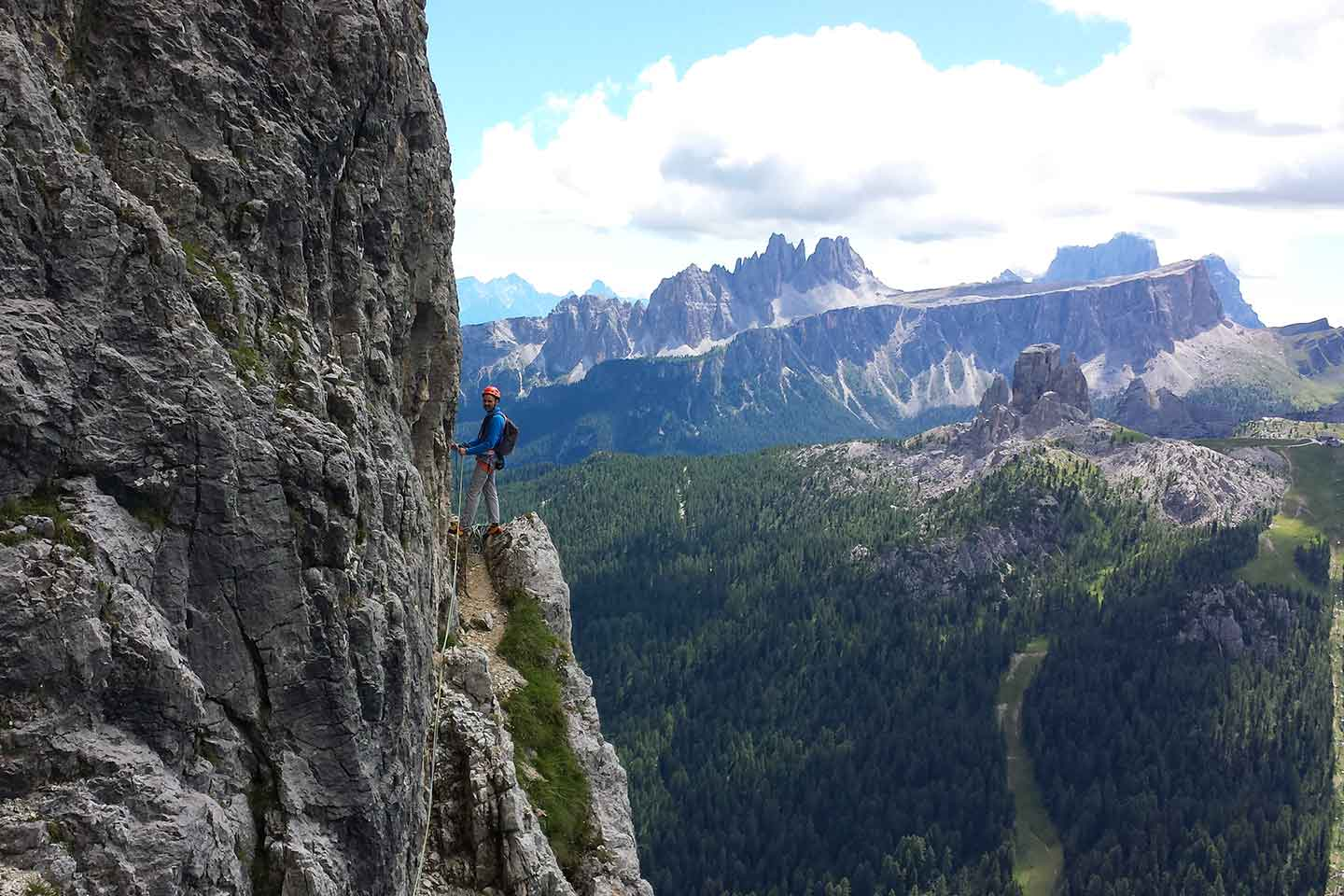 Climbing with a Mountain Guide in Cortina d'Ampezzo