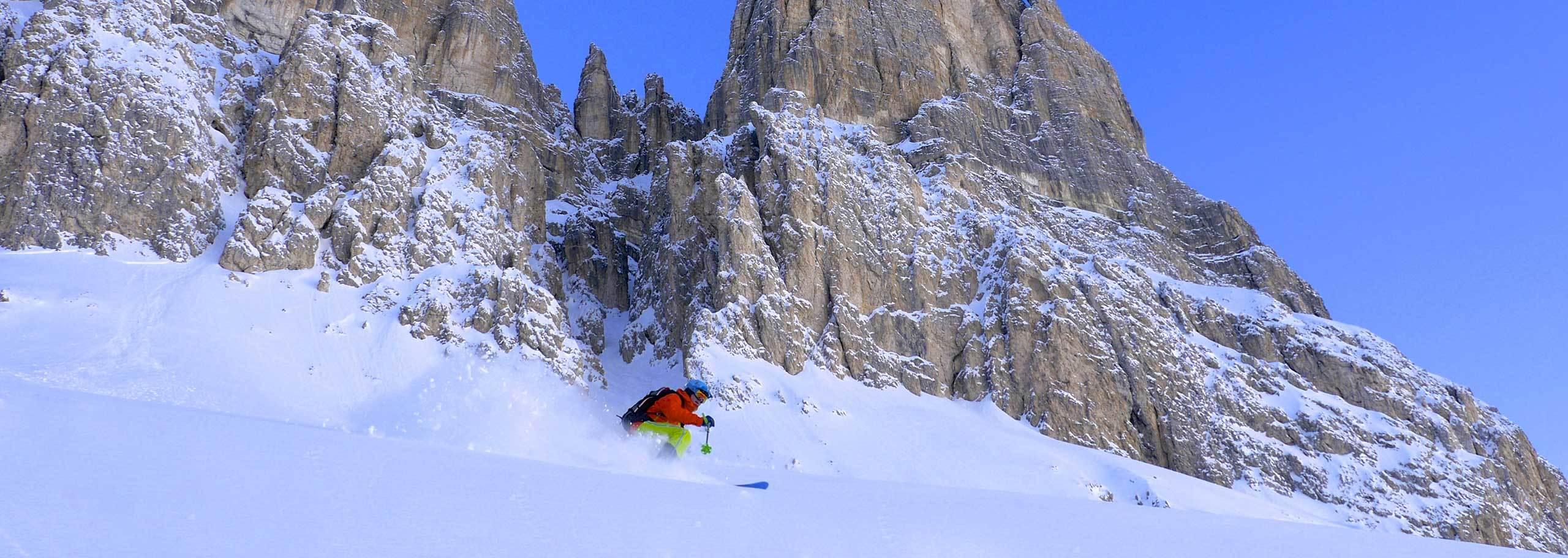 Off-piste Skiing with a Mountain Guide in Carezza