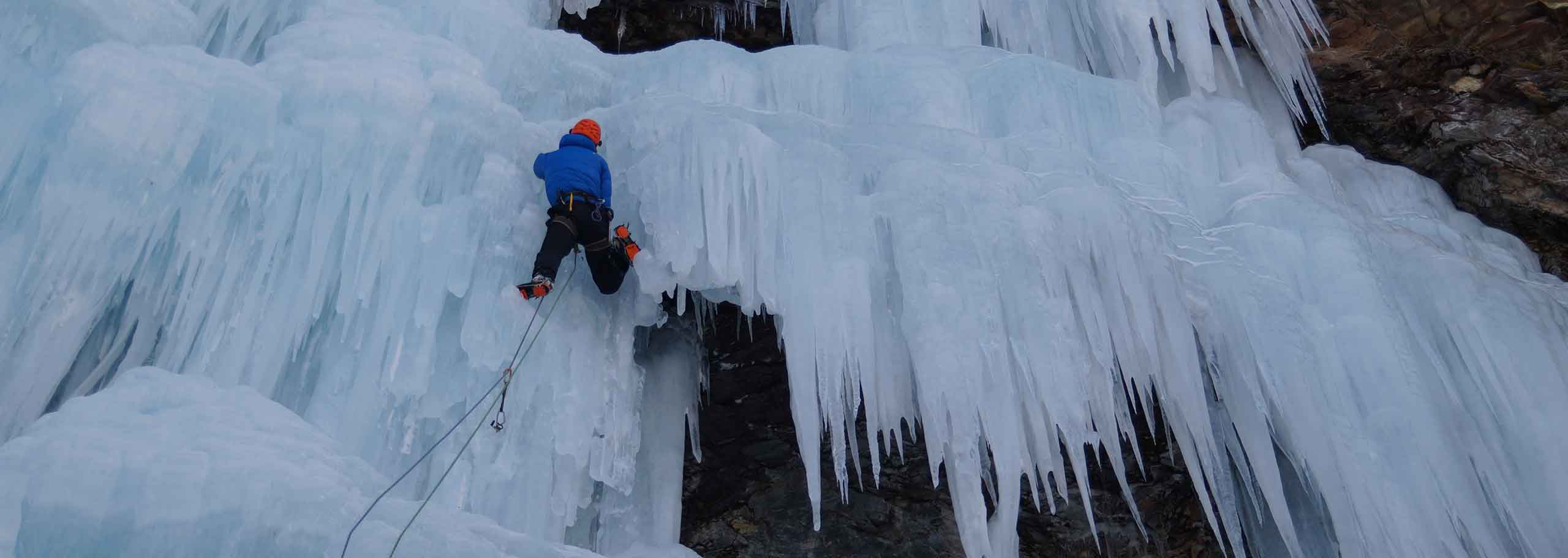 Ice Climbing with a Mountain Guide in Arabba