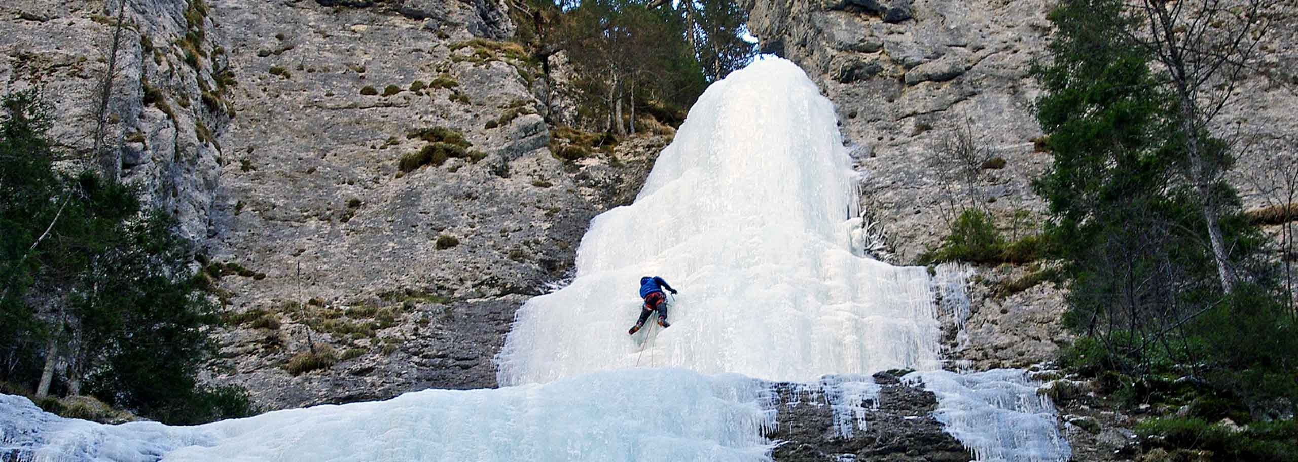 Ice Climbing with a Mountain Guide in the Alpe di Siusi